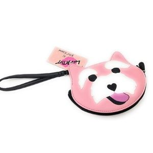 Luv Betsey Johnson Pink Schnauzer Dog coin Purse